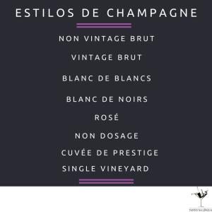 estilos de champagne
