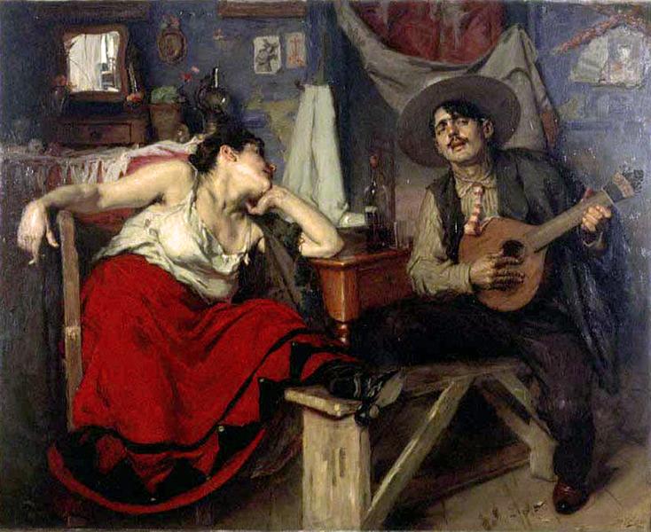 O Fado - José Malhoa Oléo s/tela 1910