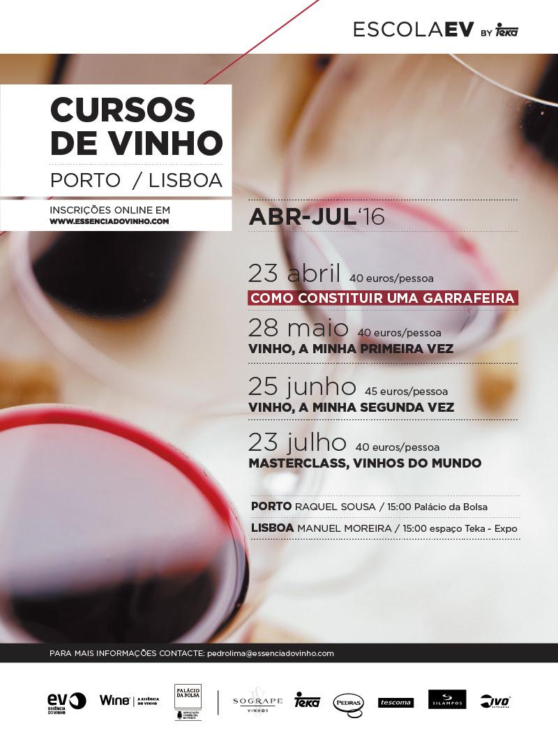 Cursos de Vinho Porto e Lisboa