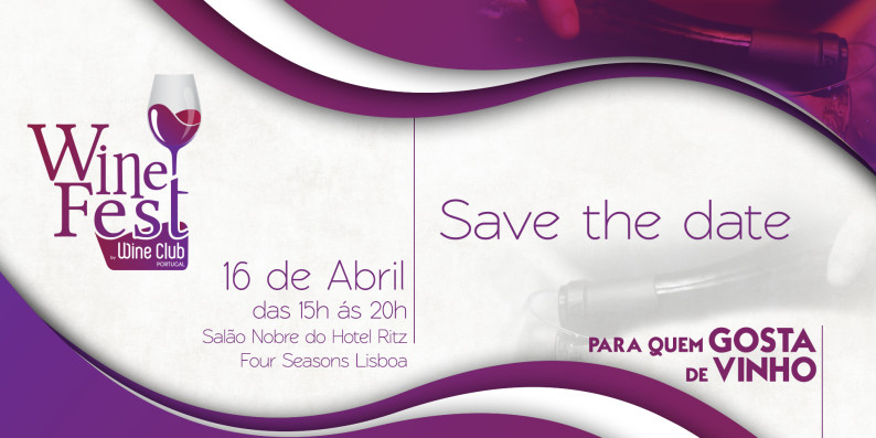 Wine Fest - Save the Date - 16 abril